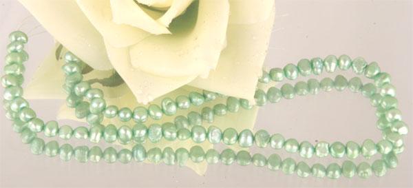 Perlenstrang Echte Süsswasserzuchtperlen ca. 38cm 4-7mm Durchmesser irregular