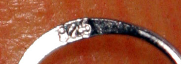 Ohringe aus Perlen an Echt-Silber Hänger 925SS, weiss, natur, ungefärbt