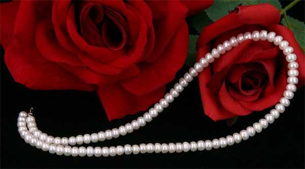 Super Eng 45cm weiss Perlenkette