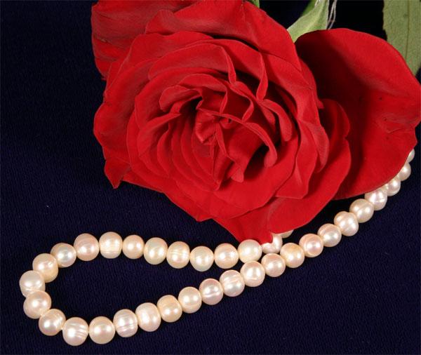 Exquisite Zucht-Perlenkette 5-6mm UVP 139€ Perlen Kette