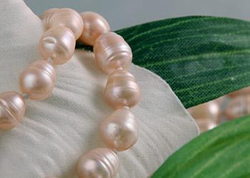Süßwasser Zucht-Perlen-Kette ca.160cm -rose-