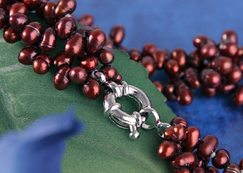 Collier Perlenkette C05 3-Reihig