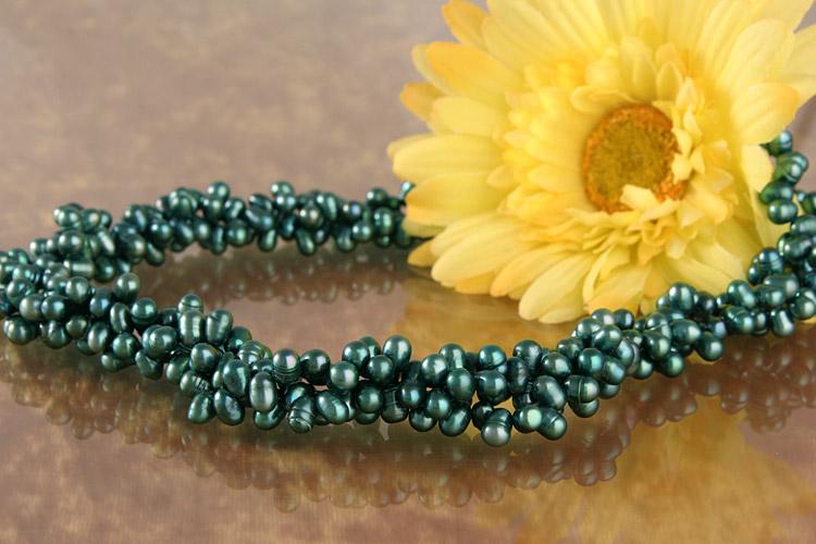3-Reihiges Perlencollier C06 Perlenkette