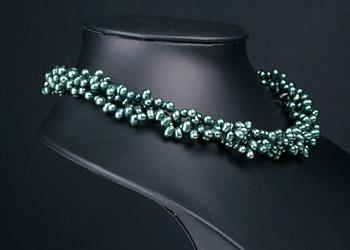 Perlenkette Collier C06 3-Reihig