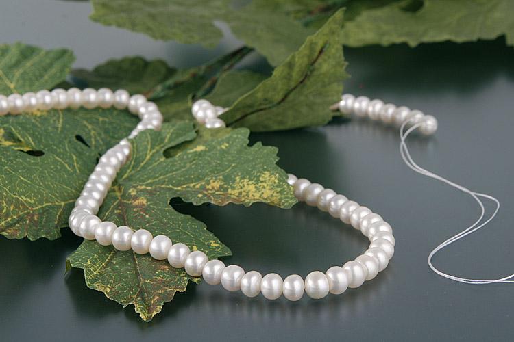 4,5-5 mm AAAA rund Zuchtperlen Süßwasser Perlen Schmuck  Collier Luxus 1Stück