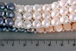 3-Reihiges Perlenarmband 3-Farbig kräftige Farben