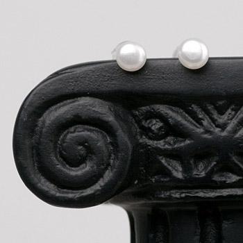 Perlen Ohrstecker weiss 4mm