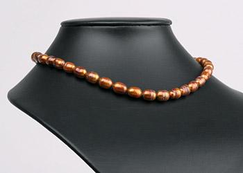 Süßwasser Zucht-Perlen-Strang P280